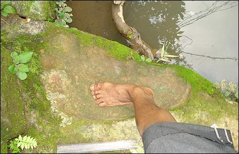 mande barung foot print supposedly